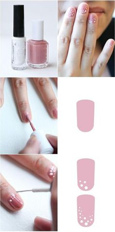 How to Get cute Spotted nails