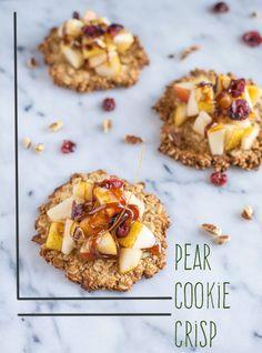 Pear Cookie Crisps   healthynibblesandbits.com