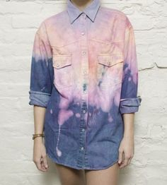 bleached + dyed denim