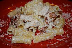 Chicken Bacon and Blue Cheese Rigatoni blue cheese, chicken bacon, chees rigatoni, recip, pasta, blues