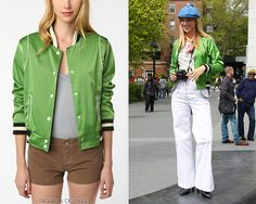 Urban Outfitters Lark & Wolff by Steven Alan Baseball Jacket - $59.99  Worn with: H ring,Urban Outfitters ring, H pants, Tahari boots
