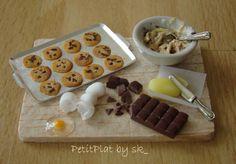 Making Chocolate Chip Cookies Miniature Food Art by Stephanie Kilgast