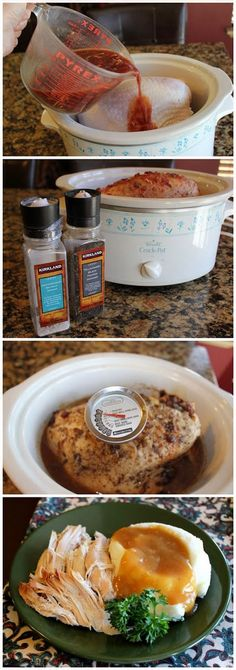 Turkey Breast of Wonder (Crock Pot) | In crockpot, add orange juice, whole berry cranberry sauce, onion soup mix, pour over breast, cook 5-6 hours