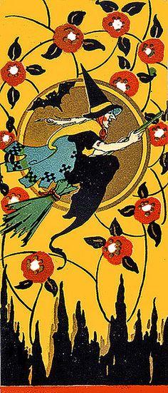 Great art nouveau Halloween image