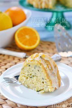 Zucchini Bundt Cake with Orange Glaze