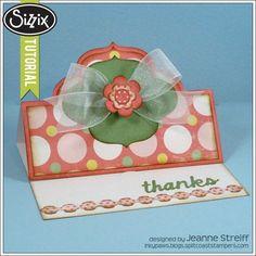 Stephanie Barnard | Thank You Stand-Ups Card Sizzix Tutorial