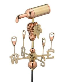Take a look at this Good Directions Wine Bottle Weathervane  by Backyard Oasis Boutique on #zulily today!