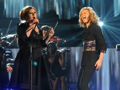 """Adele teamed with Sugarland's Jennifer Nettles to raise the roof off the 51st GRAMMY Awards in 2009 with a soaring performance of her """"Chasing Pavements"""" and Sugarland's """"Stay"""""""