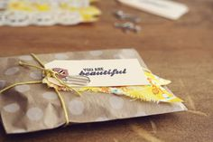 DIY fabric scrap gift tags / oh, hello friend