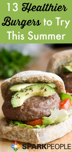 More than a dozen ways to make a healthier burger that still tastes great! | via @SparkPeople #food #recipe #diet #nutrition #grill #barbecue #summer