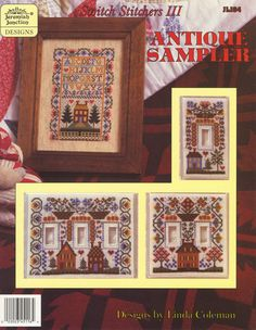 Antique Sampler 01; stitch the sampler or the switchplates.