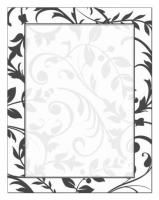 Black & White Vines Letterhead Package Quantity: 40 This stationery has a very elegant design with a classic black and white touch. Size:...