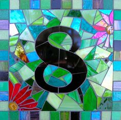House Number mosaic numbers, hous number, house number mosaic, house numbers