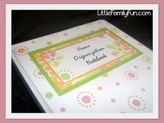 Home Organization Notebook/Binder. Get organized at home!