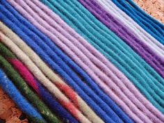 felt ropes made from recycled sweaters