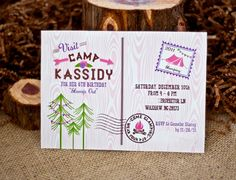 GLAM CAMPING Party Invitation