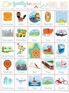 Travel Bingo - I Heart Organizing: Free Printables