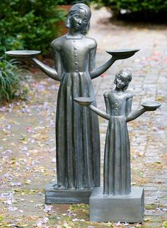 Bring charm and birds to your outdoor space with the Bird Girl Statue; a replica of Sylvia Shaw Judson's original statue.