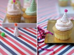 Mini Party Hat Cupcake Toppers