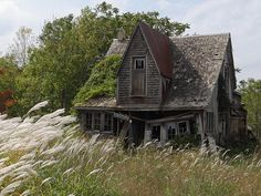 Abandoned Victorian farmhouse