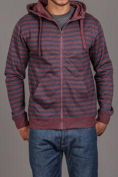 Jordan Craig Striped Hooded Zip Up