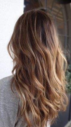 I want this length! hair colors, the wave, summer hair, ombre hair, blonde highlights, long hair, summer colors, soft curls, brown hair