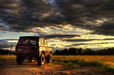 Love the sky in this Early Bronco Photo