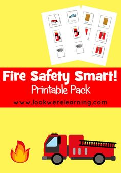 Fire Safety Smart Printable Pack - A fun cut and paste activity to help kids plan your family's fire escape plan! FREE through October 4!