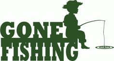 silhouett craftin, word silhouett, svg file, fish word, silhouettes, silhouett onlin, gone fishing, fishing silhouette