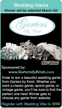 Wedding Giveaways - Win a Bridal Garter in this wedding contest.