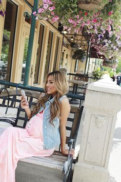Perfect Summer Layers with Denim » mychicbump #maternity #fashion #denimvest