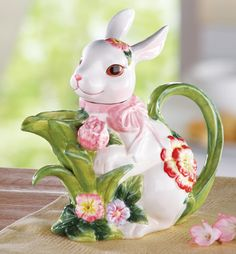 Bunny Teapot Easter Decoration