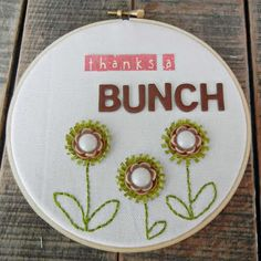 Embroidery hoop art by Jennifer Longenecker on A Million Memories blog