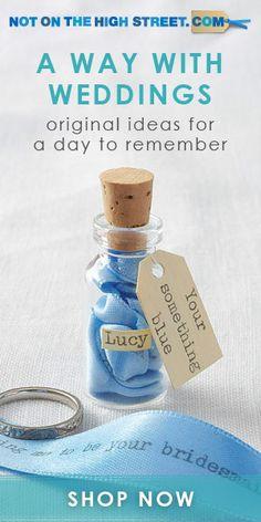 Notonthehighstreet.com bridesmaids, wedding ideas, weddings, messag, gifts, bridesmaid asking gift, bottles, something blue, blues