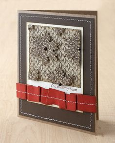 How to stamp on patterned paper! #CTMH