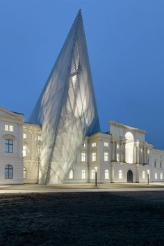Military History Museum of the Bundeswehr Dresden. After six years of extensive construction work, the Military History Museum is set to capture the attention of visitors not only through its impressive architecture, but also with a completely new concept for the presentation of over 800 years of German military history. The design of architect Daniel Libeskind shows this expression of innovation.