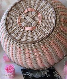 Поделка изделие Плетение Розовое настроение Бумага газетная Трубочки бумажные фото 4