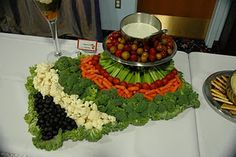 vegetable and olive tray arrangement