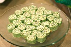 Cream Cheese Spinach Tortilla Rolls