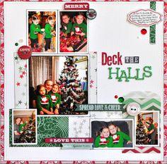 galleries, scrapbook layouts, cleanses, decks, deck the halls, photo arrangement, christma scrapbook, christmas, cherries