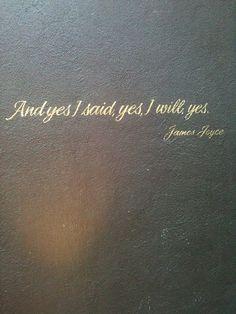 End of Ulysses. James Joyce