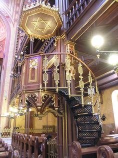 Lovely interior of The Dohány Street Synagogue, Budapest
