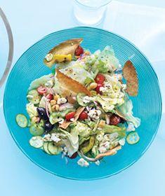 Chopped Greek Salad With Pita Chips
