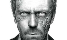 Hugh Lorie - The actor from the tv series House - Pencil Art