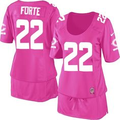 $109.99 Women's Nike Chicago Bears #22 Matt Forte Elite Breast Cancer Awareness Pink Jersey