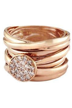 Pave Rose Diamond Ring