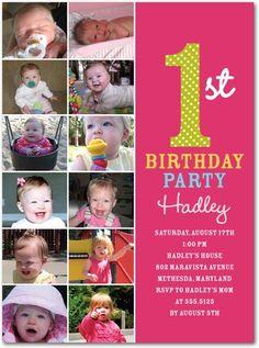 Cute First Birthday Invite