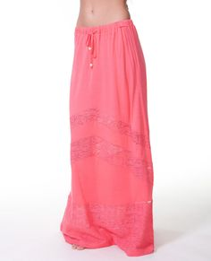 Sweetest Thing Maxi Skirt available in Calypso Coral and Vanilla.