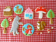 little red, red riding hood, hoods, red ride, decorated cookies, ride hood, biscuit, parti, sugar event