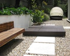 garden design, benches, area idea, landscap idea, outdoor, garden idea, gravel design, san francisco, landscap design